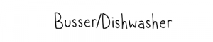 Busser/Dishwasher