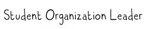 Student Organization Leader